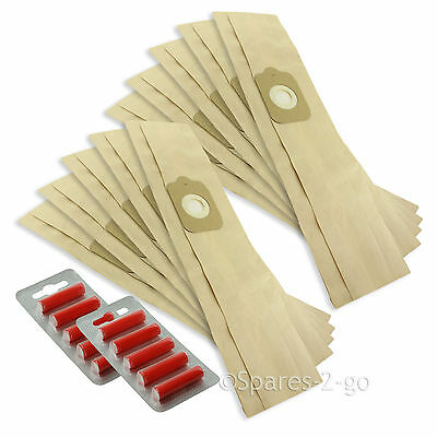 10 X Vacuum Cleaner Bags For KIRBY Heritage 2 Legend & Legend 2 + Fresheners • 11.29£