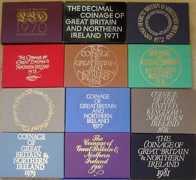£24.99 • Buy Royal Mint Proof Coin Year Sets 1970 To 1982 Birthday Coin Year Sets