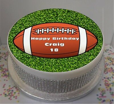 £5.19 • Buy Personalised Rugby Ball 8  Icing Sheet / Cake Topper