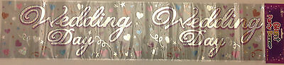WEDDING DAY  Giant Foil Party Banner. Brand New Sealed.  9Ft Long • 1.75£