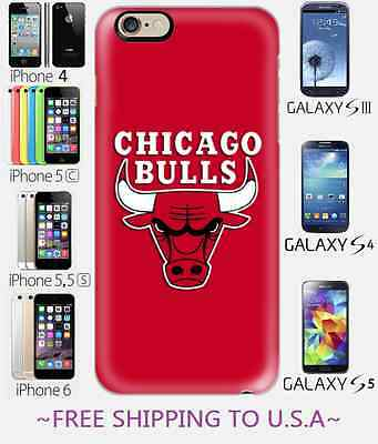 £9.29 • Buy Quality HD Chicago Bulls Phone Case Cover Apple Iphone 4 5 5c 6 Galaxy S3 S4 S5