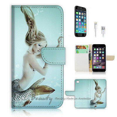 AU12.99 • Buy ( For IPhone 6 / 6S ) Wallet Case Cover P0725 Mermaid Girl