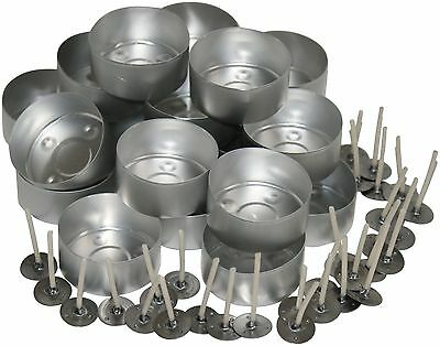 20 Aluminium Tealight Moulds Plus 30 TL15 Pre Waxed Wicks. For Candle Making • 5.20£