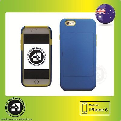 AU5.99 • Buy Bicolor Blue/Yellow Iphone 6 6s Hard Case Kickstand Stand Card Holder 4.7 Inch