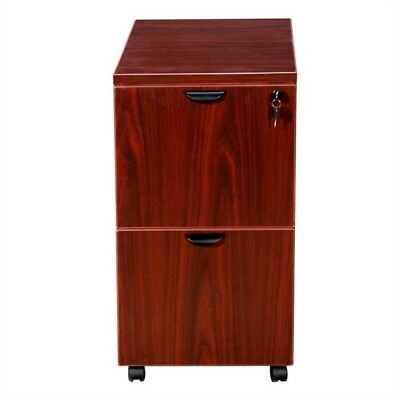 $434 • Buy Boss Office Products 2 Drawer Mobile Wood File Cabinet In Mahogany