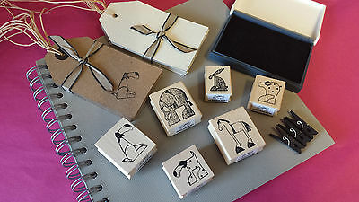 East Of India Rubber Stamps Horse Elephant Dog Rabbit Vintage Style Stamp Wooden • 3.99£