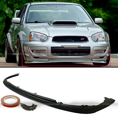 $58.99 • Buy For 04 05 WRX STI Urethane V-Limited Style PU Front Bumper Chin Lip Body Kit