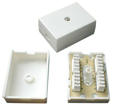 78A 4 Pair IDC Telephone Junction / Connection Box / BT Cable Joiner • 2.50£