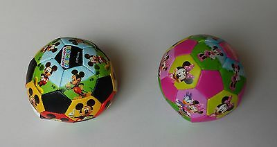 £49.99 • Buy Mickey + Minnie Mouse Pair Soft Soccer Toy Ball Kids Disney Character Clubhouse