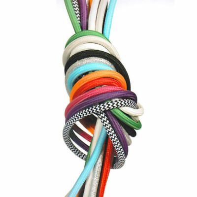 AU39 • Buy 5M Fabric Wire Cable Color Electrical Cord Vintage 2 Core Cloth Covered