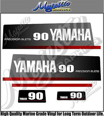 AU70 • Buy YAMAHA 90hp - PRECISION BLEND - OUTBOARD DECALS