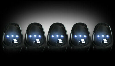 $129.95 • Buy RECON 264146WHBK 2003-2016 Dodge Ram Smoked Lens Cab Roof White LED Lights