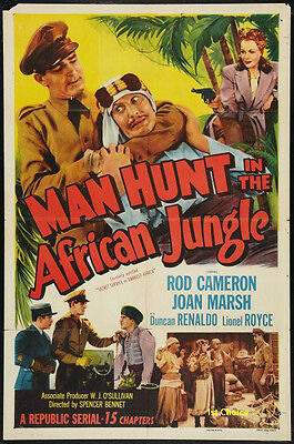 £3.61 • Buy Manhunt In The African Jungle - Cliffhanger Serial  Movie DVD Rod Cameron
