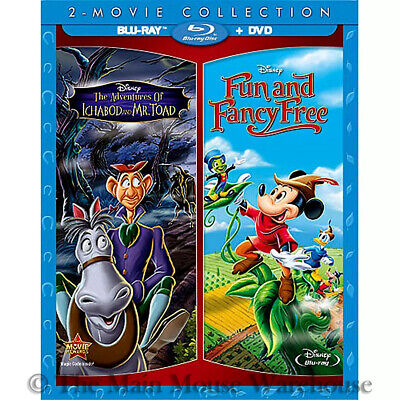 £36.28 • Buy Adventures Of Ichabod And Mr. Toad Fun & Fancy Free Reluctant Dragon Blu-ray DVD