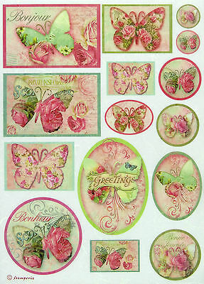£1.89 • Buy Rice Paper For Decoupage, Scrapbook Sheet, Craft  Greetings Butterfly