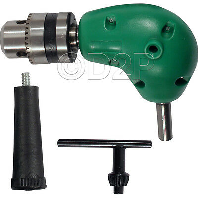 £9.95 • Buy Right Angle Drill Attachment Chuck Key Adapter 3/8  Diy Tool Accessory Cordless