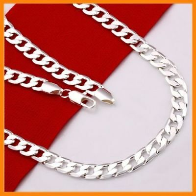 AU5.95 • Buy Stunning 925 Sterling Silver Filled 4MM Classic Curb Necklace Chain Wholesale