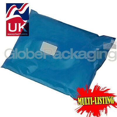 Strong Metallic Blue Mailing Postal Plastic Poly Bags Mailers *all Sizes/qty's* • 11.98£