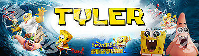 Sponge Bob Movie Sponge Out Of Water Poster Name Banner 30x8.5 Art Wall Decor • 11.19£