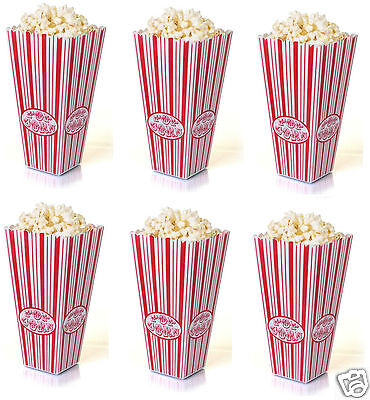 Plastic Reusable Popcorn Pop Corn Holder Container Bucket Movie Film Tv Party • 4.95£