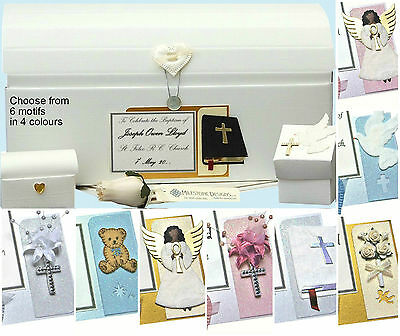 PERSONALISED Communion/Confirmation Keepsake Memory Chest Box 6 Motifs +Extras • 19.49£
