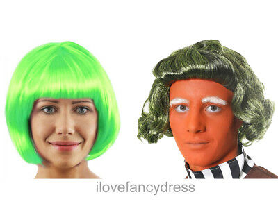 £5.99 • Buy Chocolate Factory Worker Green Wig Book Character Fancy Dress Costume Accessory