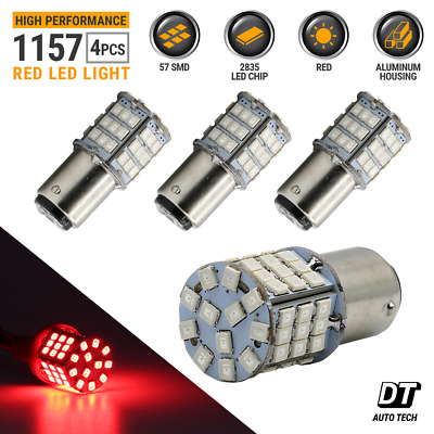 $10.43 • Buy Syneticusa 4X 1157 LED Red High Power Stop Brake Tail Light/Parking Bulbs