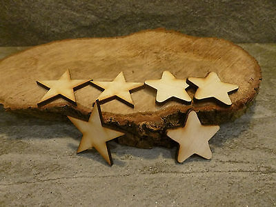 10 X Wooden Star Shaped Craft Embellishment Blanks • 2.54£