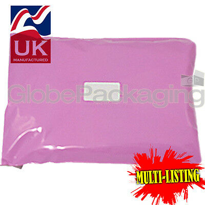 Strong Pink Postal Plastic Postage Poly Mailing Bags Mailers *all Sizes/qty's* • 3.45£