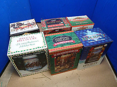 $ CDN125.23 • Buy Lot Of 6 Budweiser Holiday Stein Collection 1993 1994 1995 1996 1997 1998 [15h]