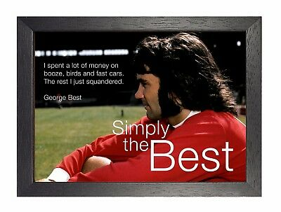 George Best Simply The Best Poster Irish Footballer Manchester Winger Picture • 19.99£