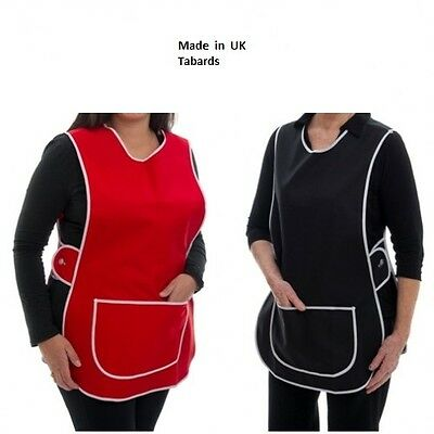 New Ladies Womans Plain Tabard  Apron 8 Colours 6 Sizes UK MADE! Best Quality • 6.95£