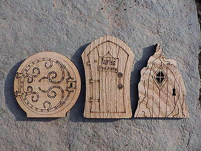 Fairy Doors, Faerie Doors Cut And Engraved From Solid Oak, Choice Of Styles • 3.99£
