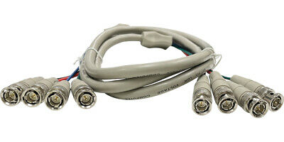 $ CDN16.72 • Buy 4 BNC To 4 BNC RGB Composite Sync High Resolution Video Cable - 6FT