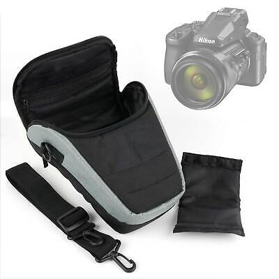 Black & Grey & Shoulder Bag / Travel Case For Nikon Coolpix P900 / P950 • 14.99£