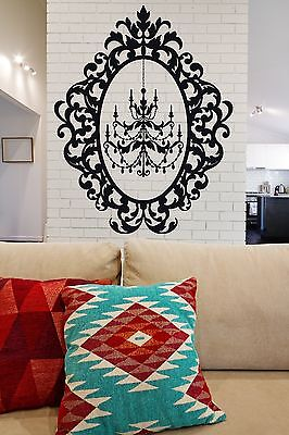 £49.55 • Buy Wall Sticker Vinyl Decal Chandelier Beautiful Oval Frame For Decoration (n178)