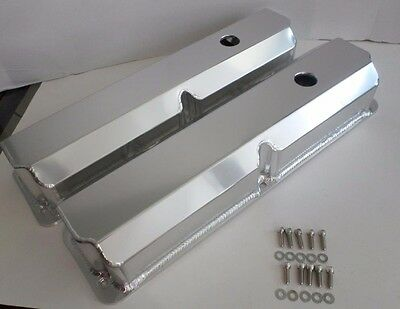 FORD FE 352,360,390,427,428 TALL Fabricated ANODIZED ALUMINUM Valve Covers-BOLTS • 119.95$