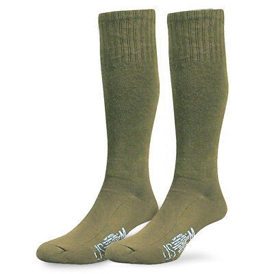Army Military Combat Cadet Hiking Walking Tactical Cushioned Boot Socks Green • 7.80£