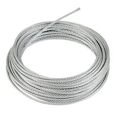 GALVANISED STEEL WIRE ROPE METAL CABLE 1mm 2mm 3mm 4mm 5mm 6mm 8mm 10mm • 2.39£