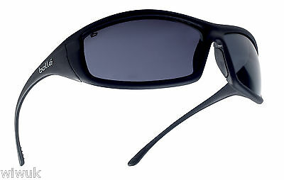 £10.99 • Buy Bolle SOLIS SMOKE Shaded Tinted Anti Scratch Safety Glasses - FREE Storage Pouch