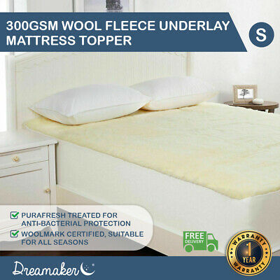 AU49 • Buy Mattress Topper Protector Fully Fitted Wool Underlay Single Double Queen King