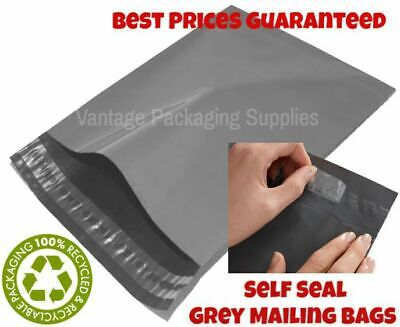 Grey Mailing Post Mail Plastic Postage Bags Poly Postal Shipping Sack Envelopes • 3.99£