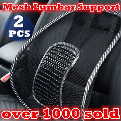 AU18.22 • Buy 2x Mesh Back Rest Lumbar Support Office Chair Van Car Seat Home Pillow Cushion