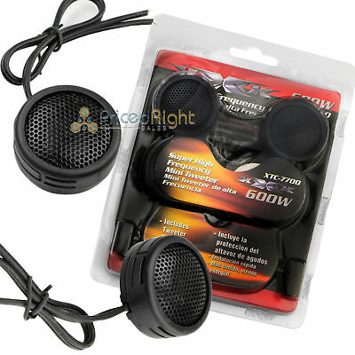$ CDN10.06 • Buy 600W Watt Super High Frequency Mini Car Dome Tweeters With Built-In Crossovers
