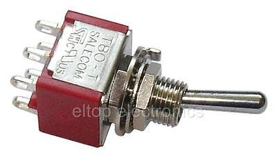 £2.80 • Buy DPDT ON-ON Mini Toggle Switch Double Pole Double Throw Lever Flick Car Dash SW20