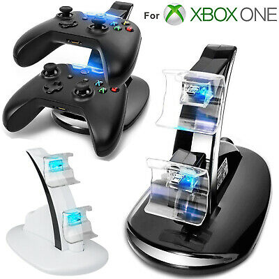LED Light Dual Controller Charging Dock Station Charger For Xbox One/Xbox One S • 8.47$