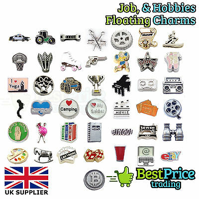 BEST QUALITY Floating Charm For Living Memory Locket JOB HOBBY *WEDDING FAVOURS • 0.99£