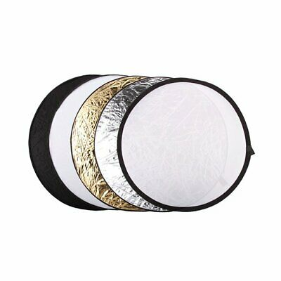 UK 5in1 Collapsible 110cm 43  Light Diffuser Round Reflector Disc + Carrying Bag • 13.99£