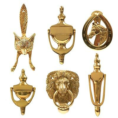 £8.49 • Buy Solid Polished Brass Door Knockers Victorian Main Front Porch Vintage/Antique