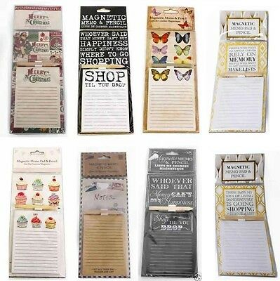 £2.49 • Buy Magnetic Memo Pad & Pencil Fridge Magnet Notes Board Travel Look Shopping List